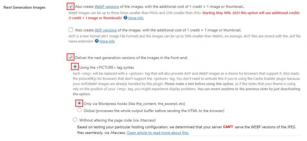 طريقة تضمين عملية تحويل الصور إلى صيغة WebP ضمن عملية التحسين